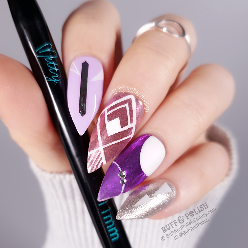 Buff & Polish - Mitty 11mm Salon Series Brush, Linework Nail Art