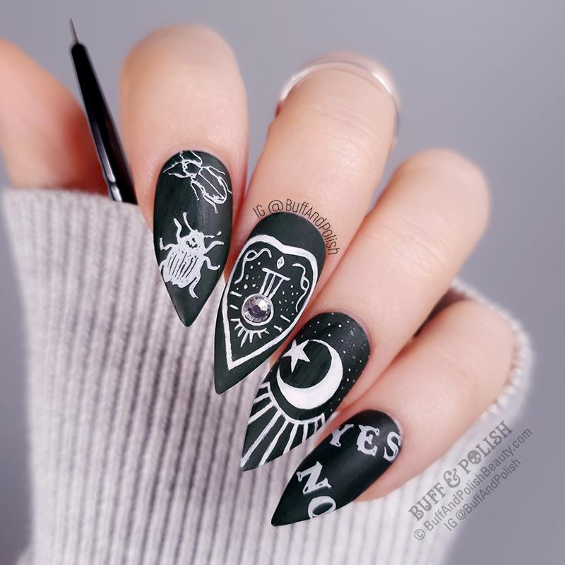 Buff & Polish - Mitty 5mm Brush Ouija Board Nails