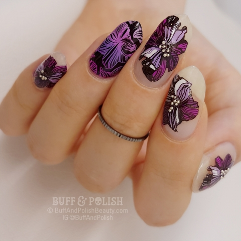 Buff & Polish - Negative Space Florals – MoYou London Contest #1