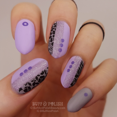 Buff & Polish - Abstract Geometric & Holo Violet – MoYou London Contest #3