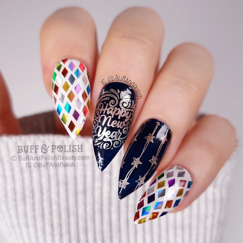Buff & Polish - NYE Disco Ball Nails