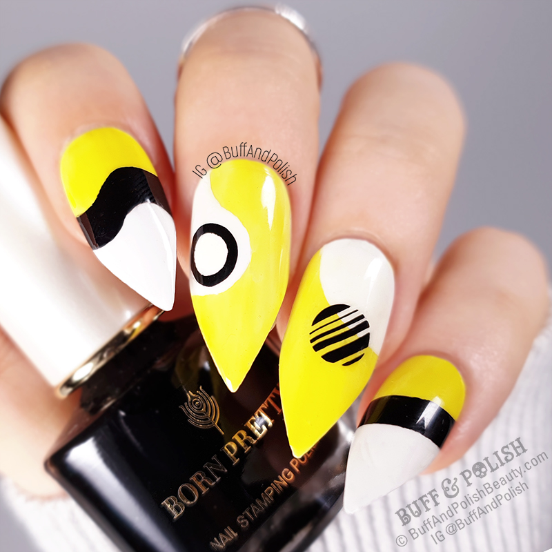 Buff & Polish - Abstract Neon Geometric in Yellow, White, Black