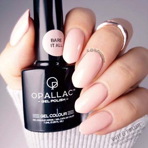 Buff & Polish - Opallac Bare It All Gel Polish Swatch GLOSS