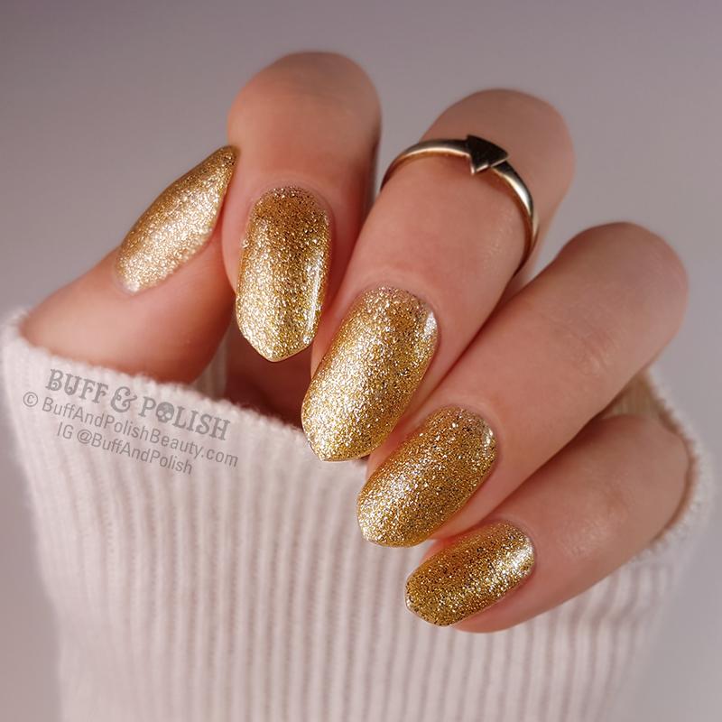 Opallac Gold Digger Glitter Gel Polish swatch