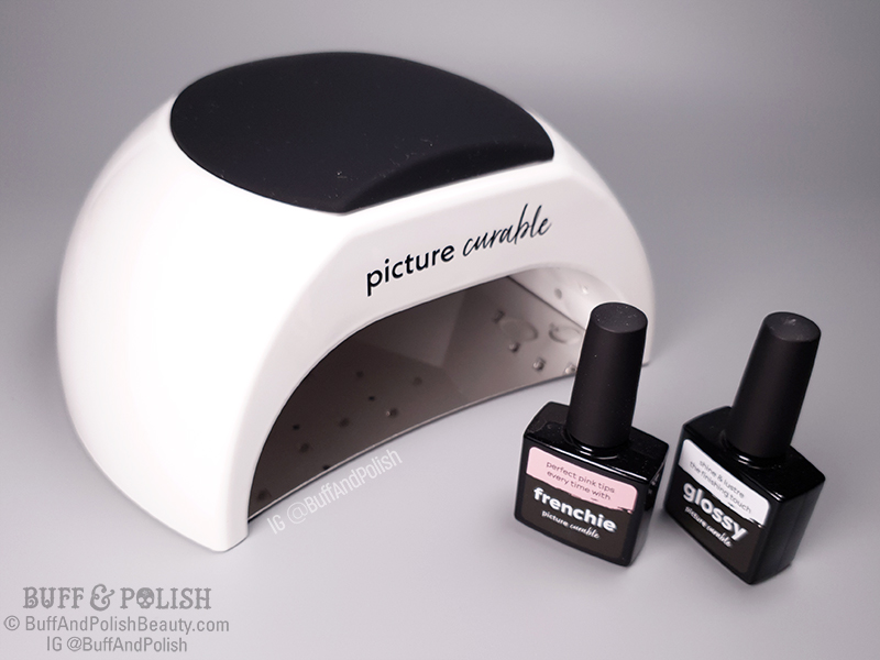 Buff & Polish - Picture Curable Lamp, Front with Lacquers
