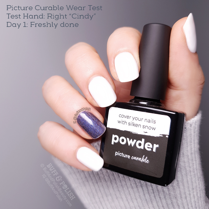 Buff & Polish - Picture Curable Powder & Stellar by Picture Polish, Wear Test - Day 1