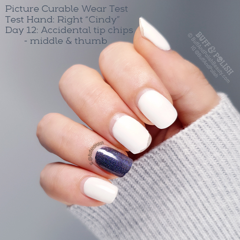Buff & Polish - Picture Curable Powder & Stellar by Picture Polish, Wear Test - Day 12