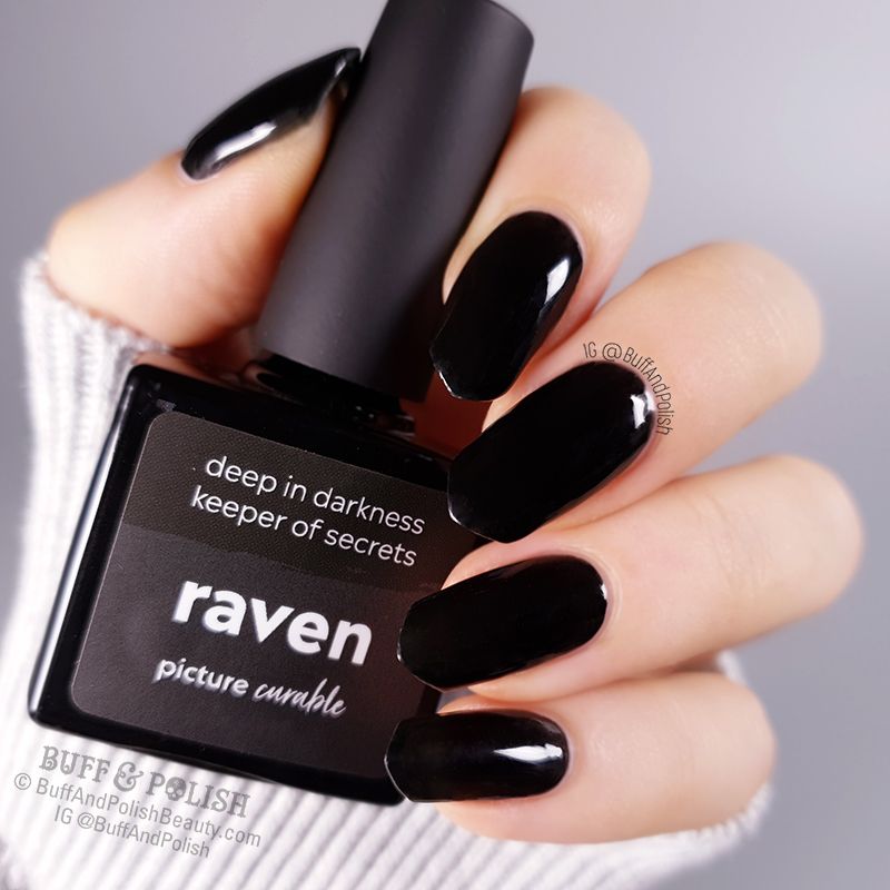 Buff & Polish - Picture Curable Raven by Picture Polish, bottle shot