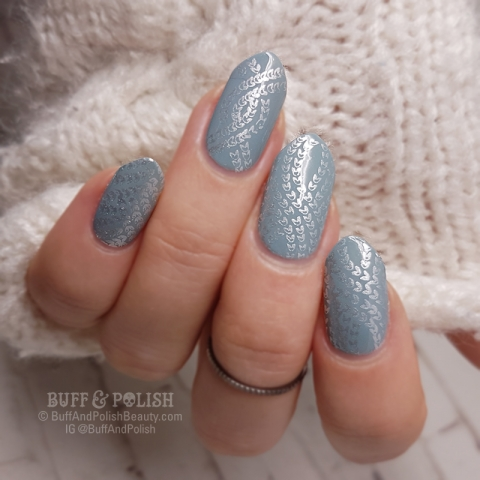Buff-&-Polish - Winter Knit nail art