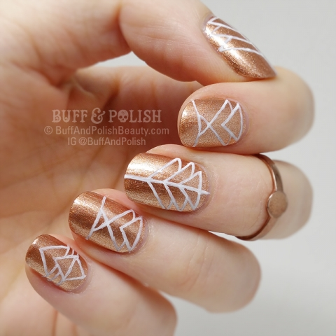 Buff & Polish - penny-geo-lines hand-painted