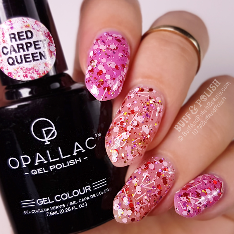 Buff & Polish swatch of Opallac Red Caret Queen