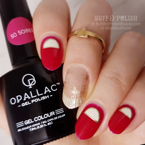 Buff & Polish - So Soiree Half Moon mani