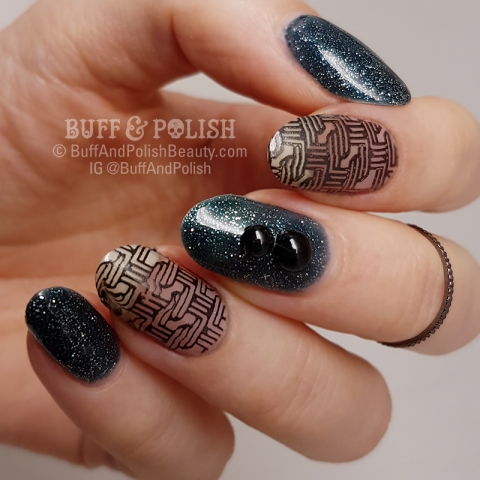 Buff & Polish - Paparazzi Glitterati with Stamping
