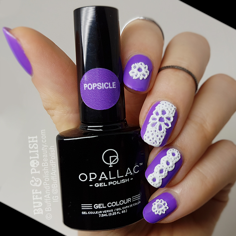 3d Nail Polish: TUTORIAL: 3D Sugared Lace Gel Nails Art In White
