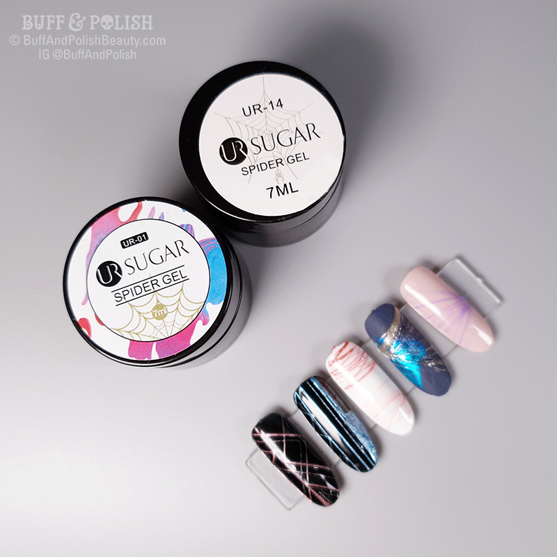 Buff & Polish - UR Sugar Spider Gel EXAMPLES for Born Pretty