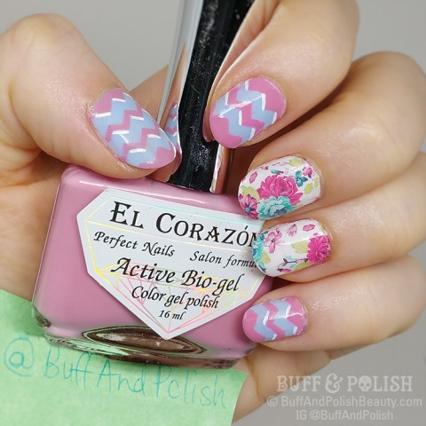 Buff & Polish - Born Pretty Store WaterColor Dreamy, Nicole Diary plate 090 nail art