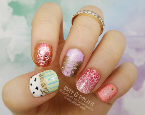 www.bornprettystore.com - $2.59 Nail Art Mirror Powder Colorful Gold Champagne Silver Purple Pink Metal Effect