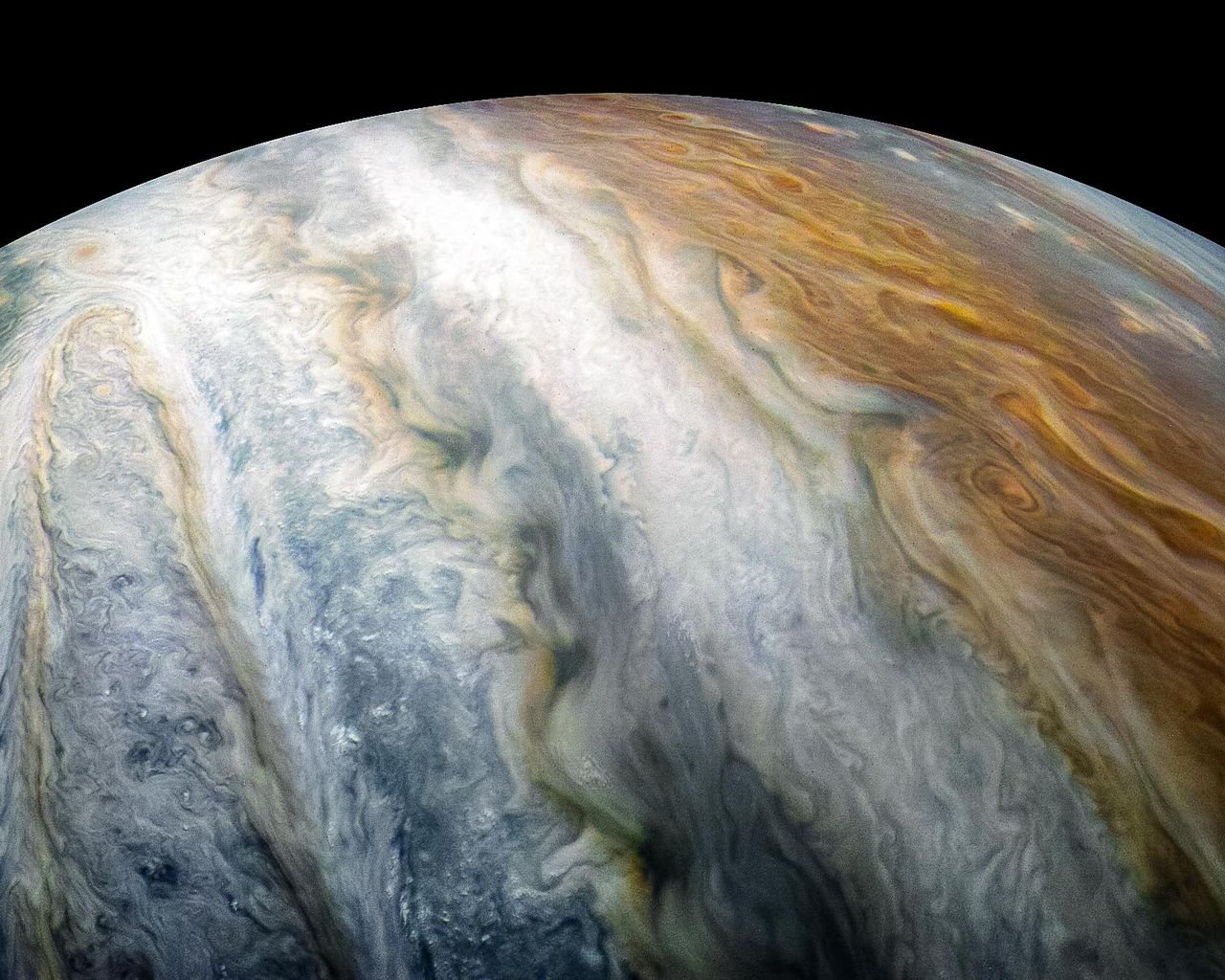 Jupiter Southern Hemisphere Cloud Belt Swirls