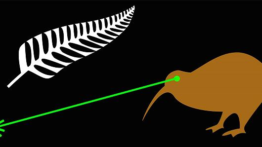 Laser Kiwi option designed by James Gray, from Auckland