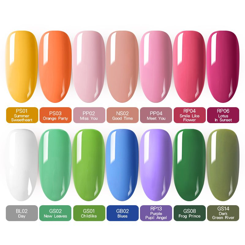 Buff & Polish - Born Pretty Pure Spring Series Gel Polish 14 Colors